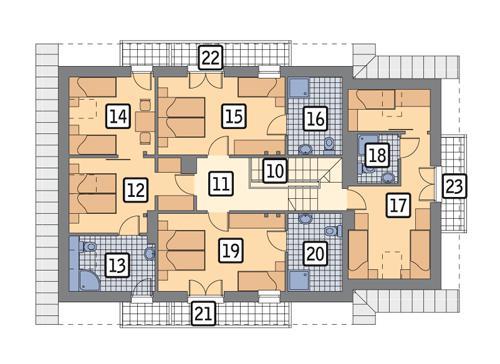 Rzut poddasza POW. 133,7 m²