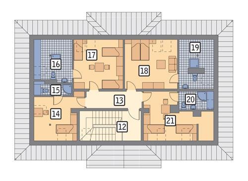 Rzut poddasza POW. 139,1 m²