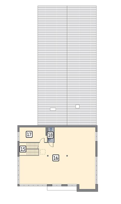 Rzut piętra POW. 184,4 m²