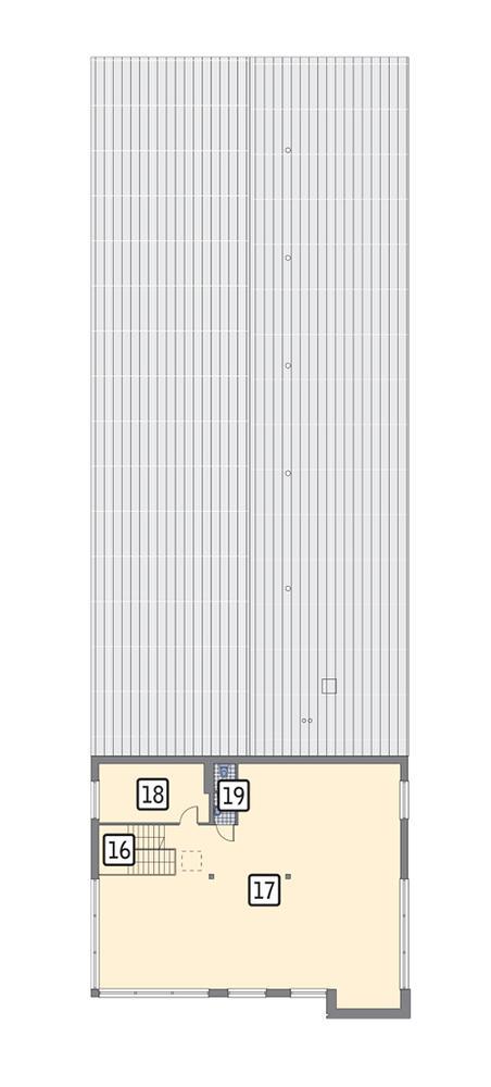Rzut piętra POW. 185,2 m²
