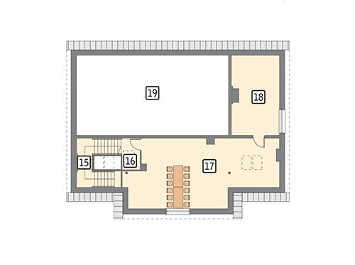 Rzut poddasza POW. 105,7 m²
