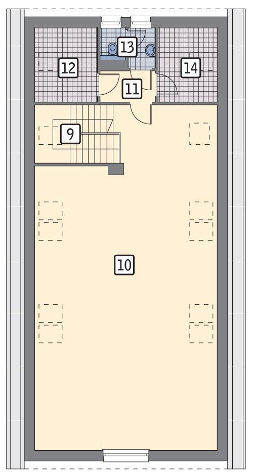Rzut poddasza POW. 144,9 m²
