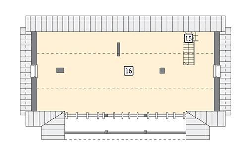 Rzut poddasza POW. 105,1 m²