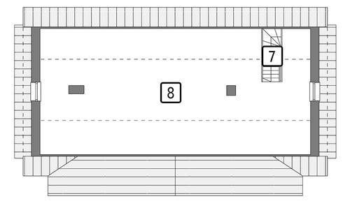 Rzut poddasza POW. 106,0 m²