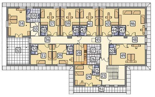 Rzut poddasza POW. 394,4 m²