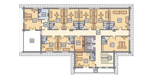 Rzut poddasza POW. 397,6 m²