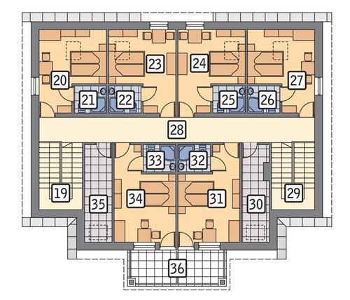 Rzut poddasza POW. 155,3 m²