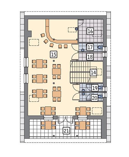 Rzut poddasza POW. 124,3 m²