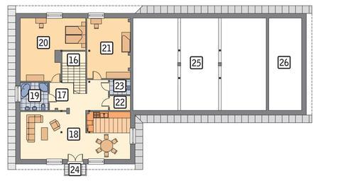 Rzut poddasza POW. 130,0 m²