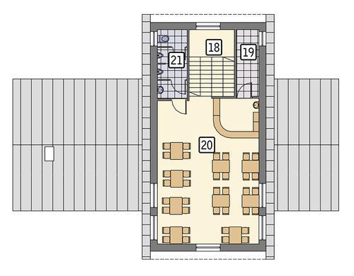 Rzut poddasza POW. 80,4 m²