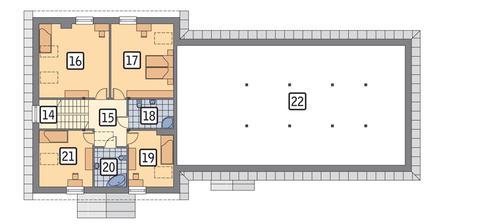 Rzut poddasza POW. 98,4 m²