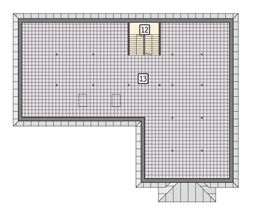 Rzut poddasza POW. 236,8 m²