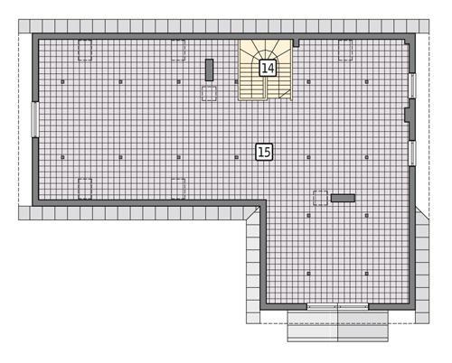 Rzut poddasza POW. 237,5 m²