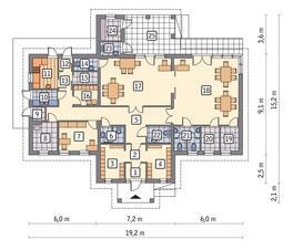 RZUT PARTERU POW. 160,5 m²