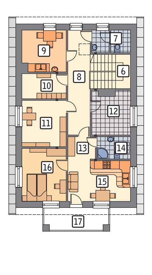 Rzut poddasza POW. 95,7 m²
