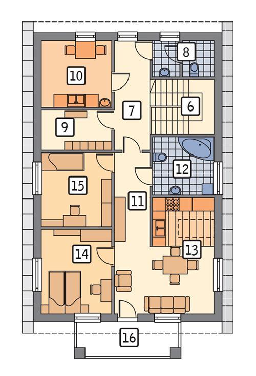 Rzut poddasza POW. 95,8 m²