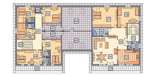 Rzut poddasza POW. 361,8 m²