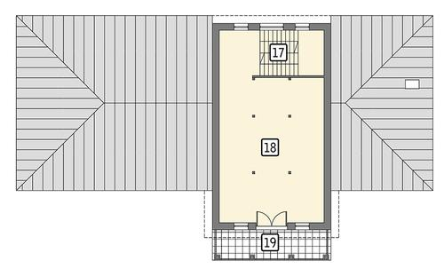 Rzut poddasza POW. 93,2 m²