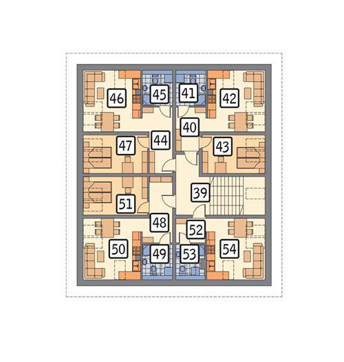 Rzut poddasza POW. 181,5 m²
