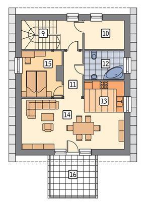 RZUT PODDASZA POW. 79,8 m²