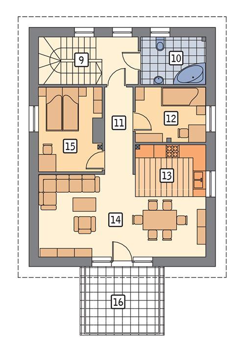 Rzut poddasza POW. 83,3 m²