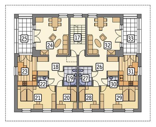 Rzut piętra POW. 175,7 m²