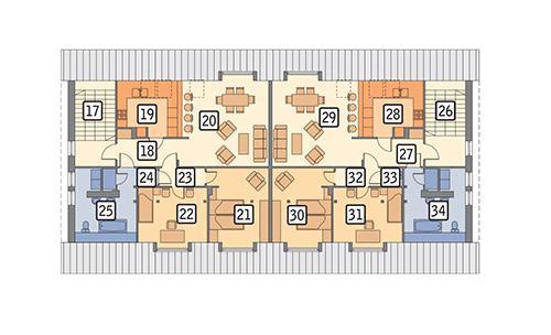RZUT PODDASZA POW. 244,1 m²