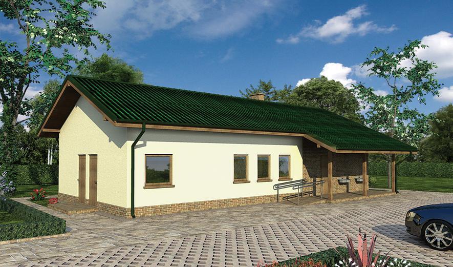 UC54 Budynek sanitarny, sezonowy