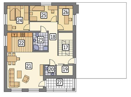 Rzut piętra POW. 97,7 m²