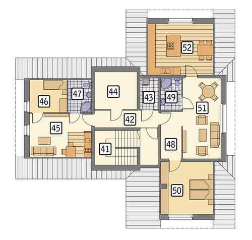 Rzut poddasza POW. 126,5 m²