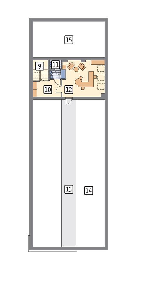 Rzut piętra POW. 49,1 m²