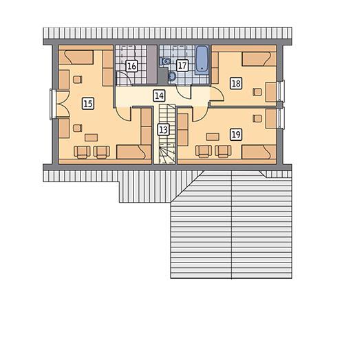 Rzut poddasza POW. 81,4 m²