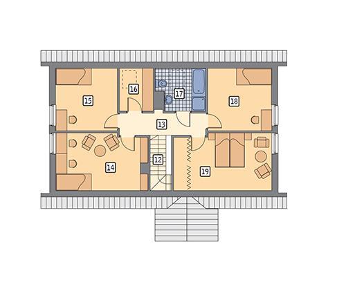 Rzut poddasza POW. 79,7 m²