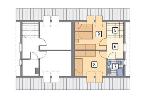 Rzut poddasza POW. 36,7 m²
