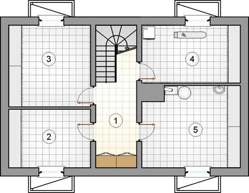 Rzut piwnicy POW. 0,0 m²
