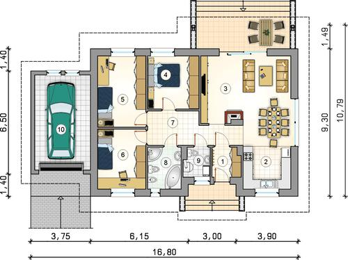 Rzut parteru POW. 0,0 m²