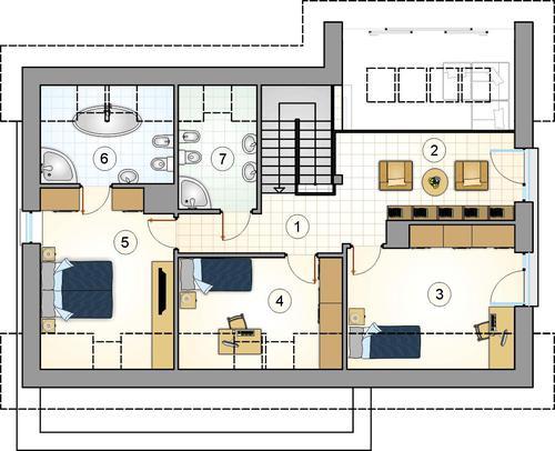 Rzut poddasza POW. 0,0 m²