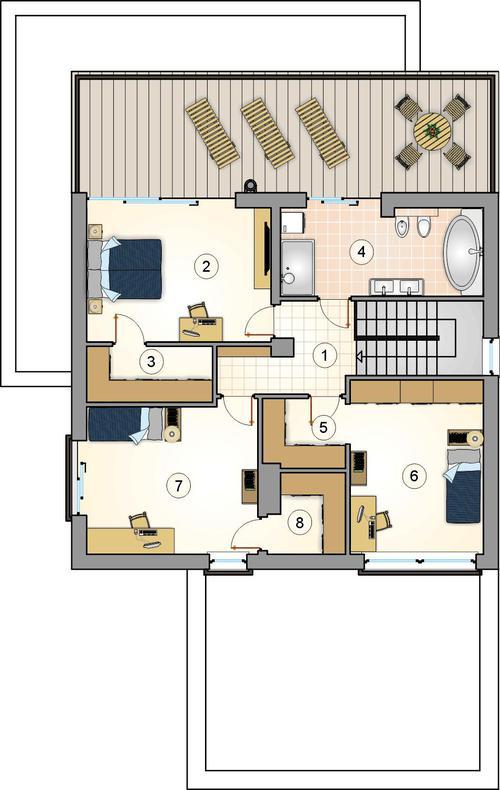 Rzut piętra POW. 0,0 m²