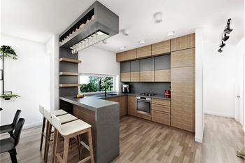 Projekt domu Ka63 (dwulokalowy / bliźniak)