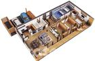 EC317a Dom oszczędny - wariant I (z wentylacją mechaniczną i rekuperacją)